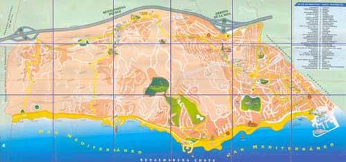 Street Map of Benalmadena Malaga Spain
