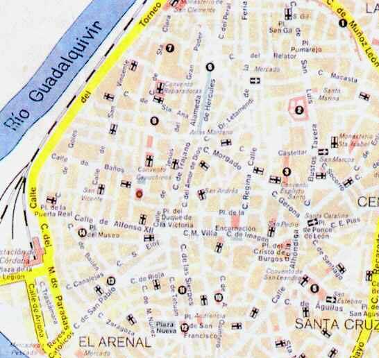 Seville Street map