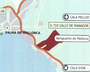 malaga airport location