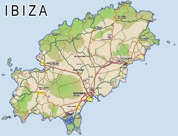 Ibiza Map of Ibiza Balearic island islas baleares
