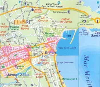 Map Of Javea 3 Alicante