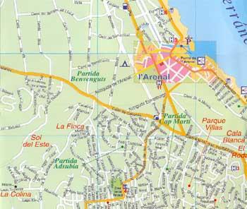 Map Of Javea 7 Alicante