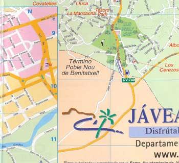 Map Of Javea 10 Alicante
