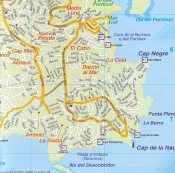 Map Of Javea 12 Alicante