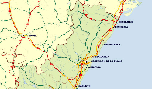 Valencia map of valencia