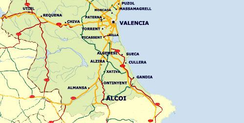 Valencia Mapa Valencia